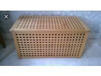 Ikea Wooden Storage/ ottoman/ toy/ shoe box
