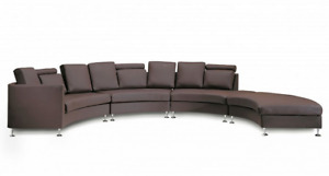 Genuine Leather Circular Sofa and Oversized Ottoman NEW PRICE