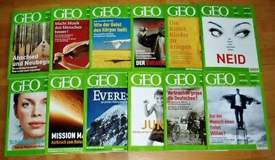 GEO Zeitschrift 2003 komplett Bild der Erde Jahrgang 12 Hefte Sammlung