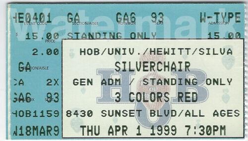 Silverchair 1999 Concert Ticket Stub House of Blues West Hollywood Daniel Johns