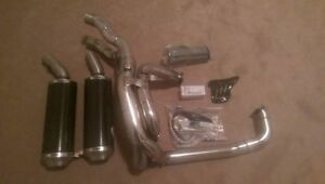 Complete Termignoni Exhaust for Ducati 848, Carbon & Polished
