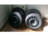 Steel wheels with winter tyres. 185/60R15 88T