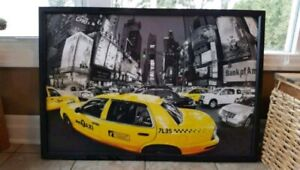 NYC Taxi Wall Art Painting