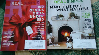 REAL SIMPLE 2015 December November Christmas Thanksgiving Holiday (Real Simple Gift)