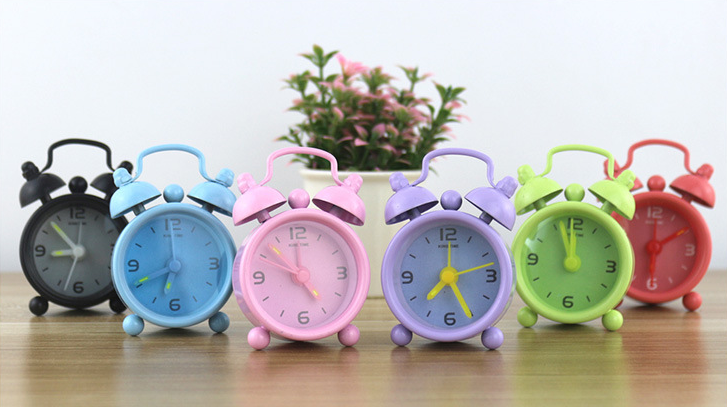 Mini Cute Cartoon Alarm Clock Concise Style Portable Children Decor Student Gift