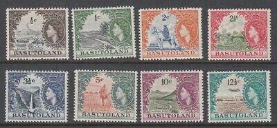 1963 Basutoland Queen Elizabeth II, Local Motifs 8 mint stamps