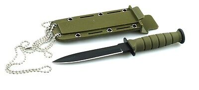 Mini Dagger Neck Necklace Tactical Knife w/kydex sheath
