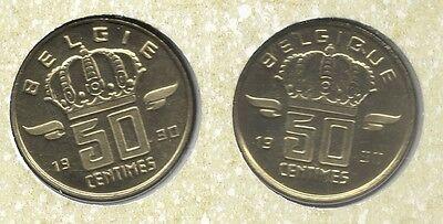 50 cent 1990 fr+vl * uit muntenset * FDC / UNC *