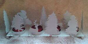 Christmas accent piece; holder with tea lights London Ontario image 1