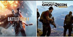 Battlefield 1 and Ghost Recon $100