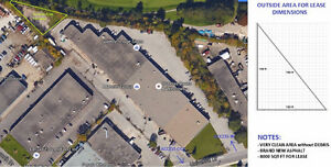 LARGE 8000 SQFT OUSTSIDE PARKING LOT AVAILABLE FOR RENT