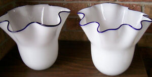 REDUCED! 2 White Glass Vases/Accent Pieces Stratford Kitchener Area image 4