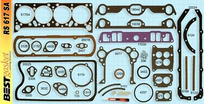 Pontiac 370 389 Full Engine Gasket Set/Kit BEST Head+Intake+Oil Pan 1958-60