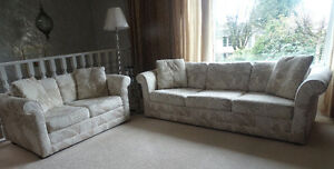 3 seats and 2 seats sofa with self- made sofa covers