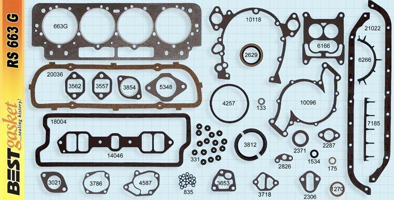 Cadillac 390 429 Push Rods Valve Lifters 1963-66 set//16 w// full gasket set