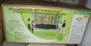 """14"""" JUMP TECH TRAMPOLINE WITH ENCLOSURE COMBO"""