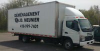 Déménagement JD.Meunier: 418-999-7401 - Disponible 22 au 31 mars