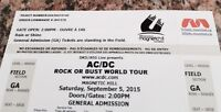 Two AC/DC tickets plus camping at concert site.