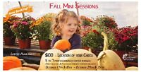 Fall mini sessions October 18th, 24th & 25th