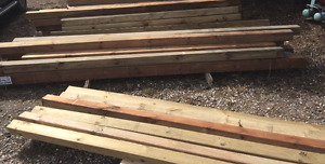 Assorted Pressure Treated wood posts -- NEW--
