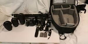Nikon D90 with the mention accessories