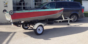 12' used aluminum boat and accessories for sale
