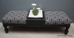 Stylish entry bench/ottoman/coffee table