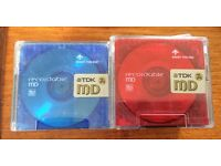 Minidisc Discs - TDK 74 Recordable / Sharp MD-R 80/Sony
