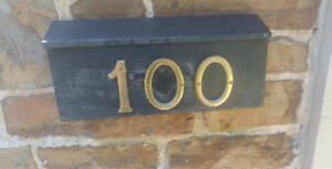 """BRASS HOUSE NUMBER """"100"""""""