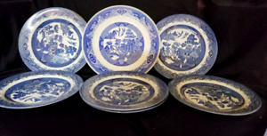Royal Oak Dinner Plates (6) 'Blue Willow'