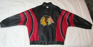 Chicago Black Hawks Leather Jacket