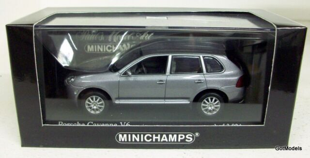 MINICHAMPS 1/43 - 400 061010 PORSCHE CAYENNE V6 2003 - GREY METALLIC MODEL CAR