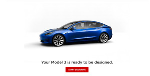 Tesla Model 3 Reservation - 4 WEEK DELIVERY
