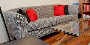 Two and half seater stylish black and white sofa New Farm Brisbane North East Preview