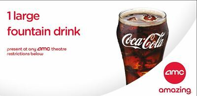 5 AMC Large Fountain Drink Beverage | 5 Popcorn eDelivery - Exp 12/31/2020