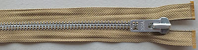 Aluminum 10 Solid Aluminum Heavy Separating Metal Zipper By Ykk ® Brand - Camel