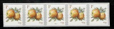 5037 Apples Us Pnc Strip Of 5 Mint Nh