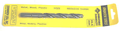 10.5mm 2pc Set Ships Fast From Usa Twist Drill Bit Metric High Speed Steel Hs
