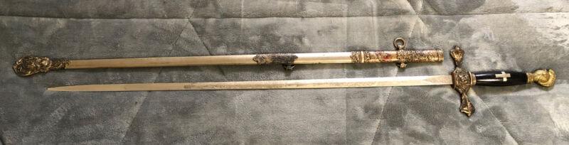 Vintage The Pettibone Bros. Mfg. Co. Cinti. O. Masonic Ceremonial Sword