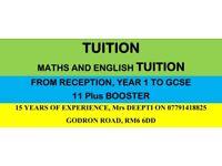 Maths and English Tution by lady teacher in chadwell heath