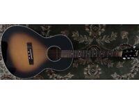 Ozark 3740 Sunburst Acoustic Guitar (w/Hard Case)