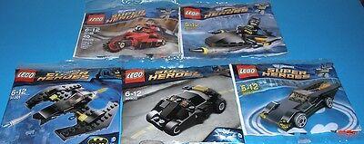 5x Lego Super Helden! Batman und Robin + Batmans Tumbler , Batwing und Batmobil (Batman Und Robin Batmobil Spielzeug)