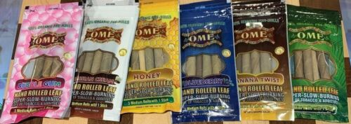 OME PALM LEAF VARIETY PACK NATURAL WRAPS 6 PACKS 18 ROLLS HONEY BUBBLE GUM KING