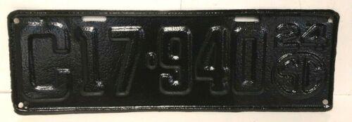 1924 Vintage License Plate SC South Carolina