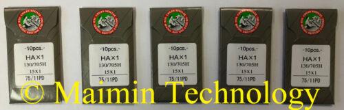 50 75/11 SHARP ORGAN TITANIUM FLAT SHANK 15X1 HAX1 HOME SEWING MACHINE NEEDLES