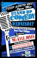 Kyle Jones at Deep South BBQ Wednesday Comedy Night Dec 2nd.
