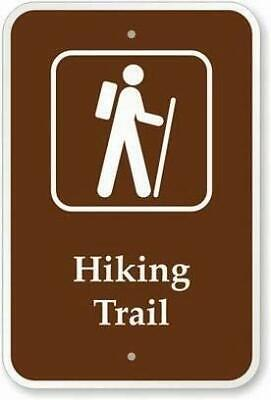 Safety Signs Outdoor Wall Art Decor Hiking Trail Warning Tin Metal Sign Notice S