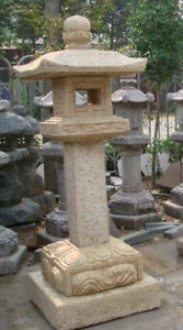 Authentic Japanese Stone Lanterns and Garden Pieces
