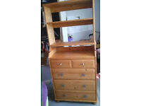 Ikea Diktad Chest of drawers with bookcase above