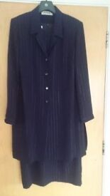Navy pinstripe dress and jacket size 18 by FINK